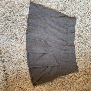Grey pleated tennis skirt